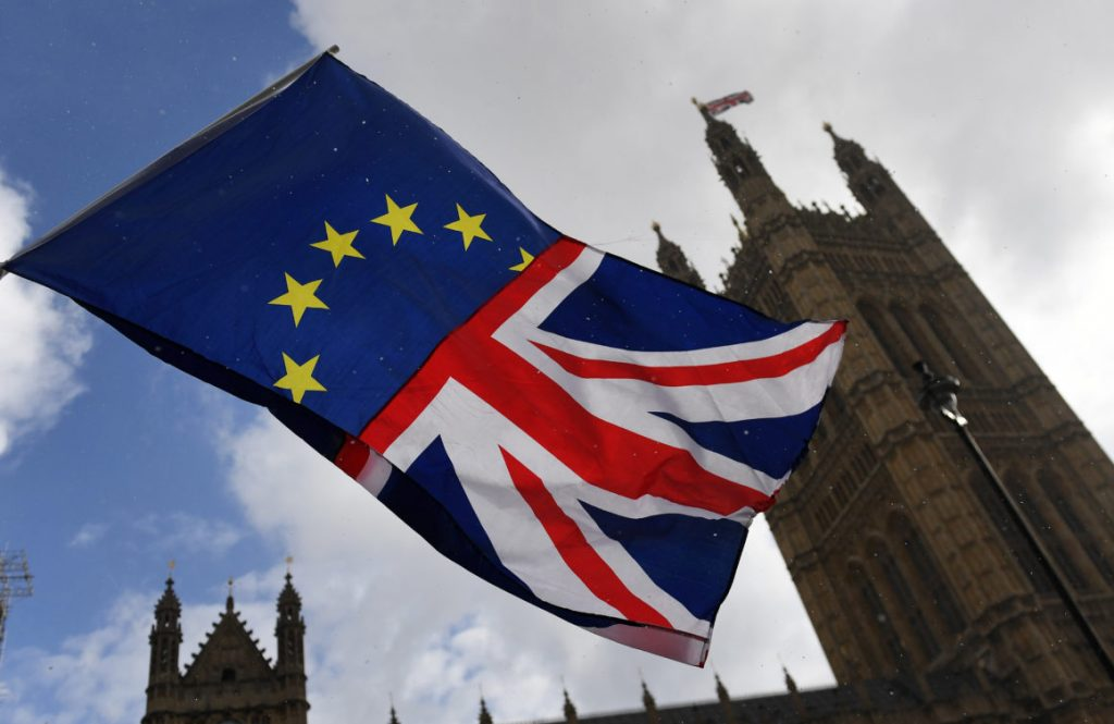 UK and Eu flag- Brexit
